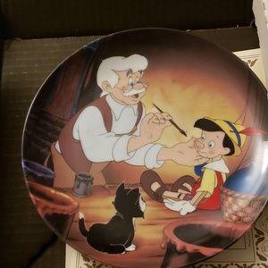 Geppetto Creates Pinocchio China Plate